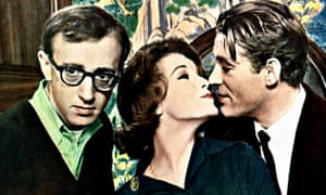 Woody Allen, Romy Schneider and Peter O'Toole in What's New Pussycat.