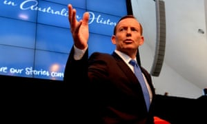Prime Minister Tony Abbott launches the Defining Moments in Australian History project.
