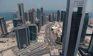 A general view shows the city of Doha on