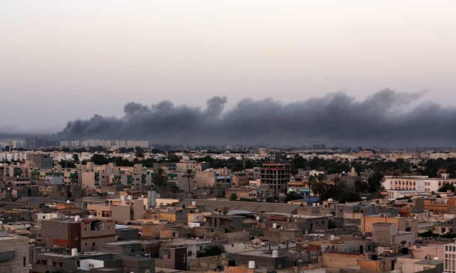 Tripoli smoke Libyan Dawn