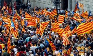 A Catalan pro-independence rally …