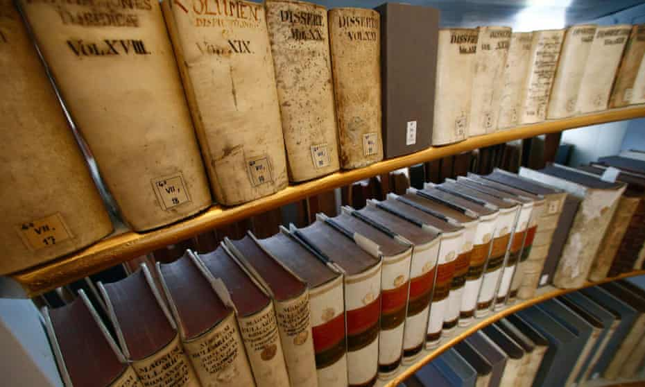 Historic library books on display