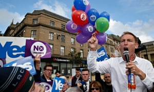 Labour MP Jim Murphy at a rally in Dundee