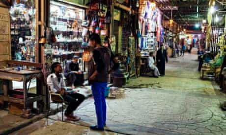 Tourist hostpots like the market in central Luxor remain deserted