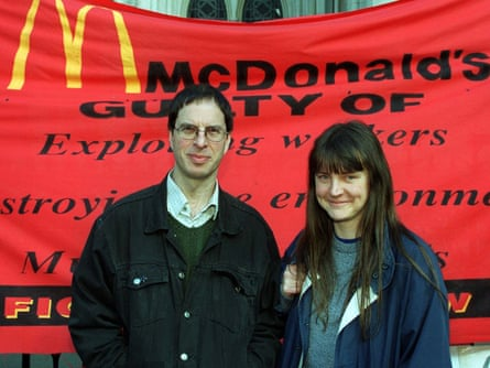 Helen Steelwith fellow activist Dave Morris during the 'McLibel' trial in 1999