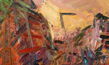 A detail from Mornington Crescent - Winter by Frank Auerbach.