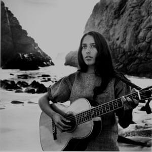 Joan Baez on the beach near her home, 1962