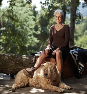 'There have been lots of hallelujah moments': Joan Baez at home in California.