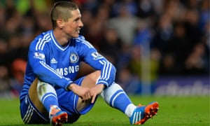 Fernando Torres on his way out of Chelsea