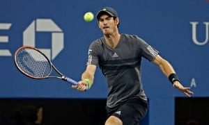 Andy Murray during the men's singles at the US Open