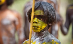 A Gumatj boy at the official opening of the Garma Knowledge Centre