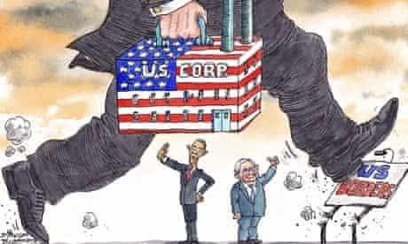 David Simonds cartoon on US corporations avoiding taxation