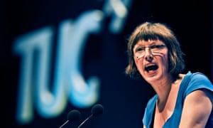'We need to rebalance the economy': Frances O'Grady.