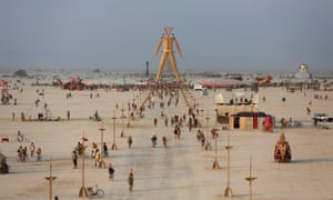 A view of the Playa and the Man.