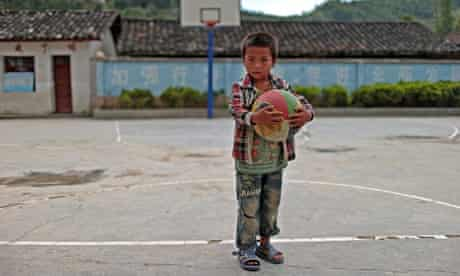 A left-behind child in Yunnan province, China.