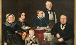 Portrait of Leach family 1849