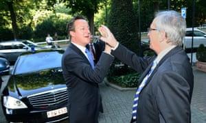 Jean-Claude Juncker receives David Cameron, British Prime Minister