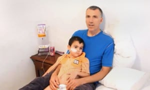 Ashya King with his father Bret