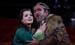 Simon O'Neill, playing the title role of Opera Australia's Otello, and Lianna Haroutounian as Desdemona at the Sydney Opera House on July 5, and runs until until August 2.