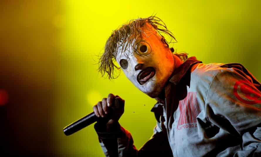 Slipknot perform at the Roskilde Festival in Roskilde, 2013.  (AP Photo/POLFOTO, Thomas Borberg)