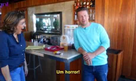 That foreign muck … Jamie Oliver shocks Brazil.