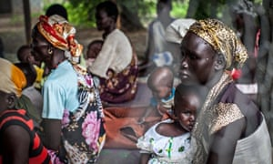 Families with malnourished children wait