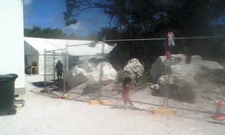 A child inside the Nauru detention centre