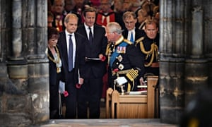 Prince Charles and David Cameron leave Glasgow Cathedral after first world war service
