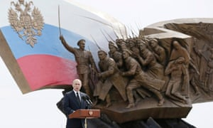 Russia's President Vladimir Putin delivers a speech during a ceremony unveiling a World War One monument at the Poklonnaya Gora War Memorial Park in Moscow on 1 August, 2014.