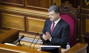 Ukraine's recently elected president Petro Poroshenko.