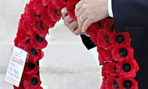 Nick Clegg's first world war wreath says: 'From the deputy prime minister'