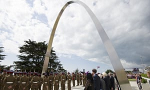 "Prince Harry attends the ""Step Short"" commemorative event as he unveils the  Folkestone memorial arch."