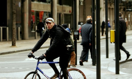 In London, couriers live on the fringes of society, yet are integral to key industries such as law and finance.