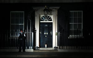 The lights go out in Downing Street