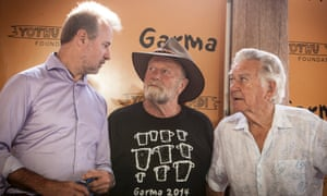 Nigel Scullion, Jack Thompson and Bob Hawke, Garma festival
