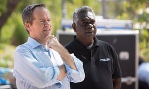 Bill Shorten and Djawa Yunupingu, Garma festival 2014