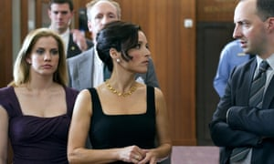 Anna Chlumsky (left) and Julia Louis-Dreyfus (centre) in Veep.