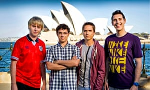 On the set of The Inbetweeners 2 movie 'The Long Goodbye'