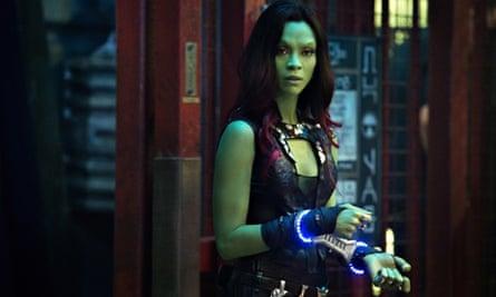 Zoe Saldana as Gamora in Guardians of the Galaxy