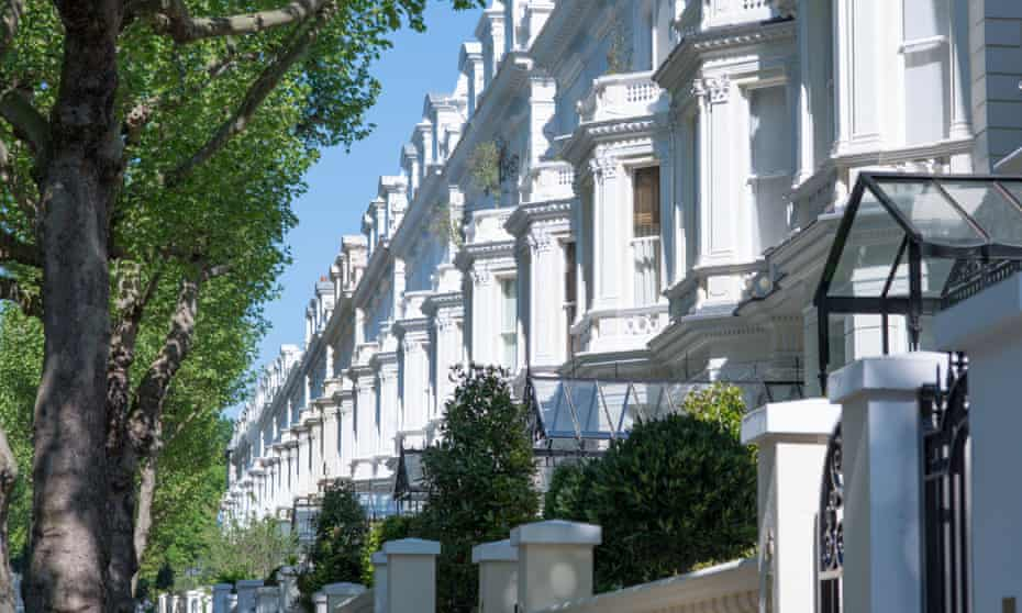 Exclusive properties on Holland Park, west London.
