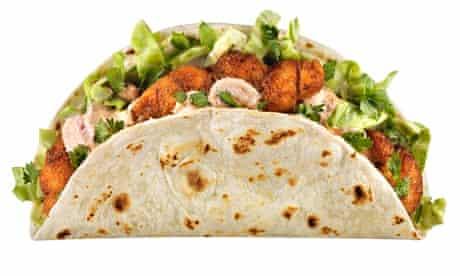 A Cajun fish taco