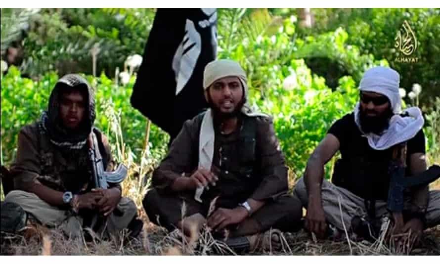An Islamist fighter, identified as Abu Muthanna al-Yemeni from Britain