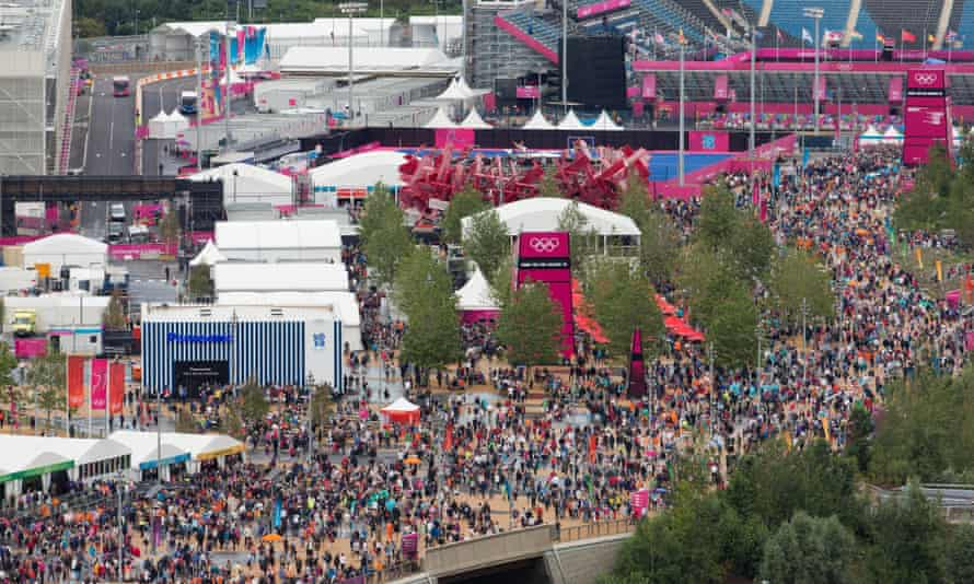 The Olympic Park on the second day of the Games in 2012