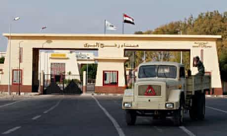 The Rafah border crossing in southern Gaza