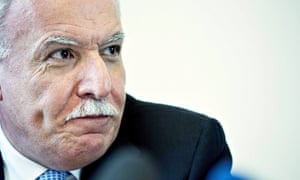 The Palestinian foreign minister, Riad Malki