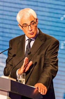 Alistair Darling, debating for the no campaign.