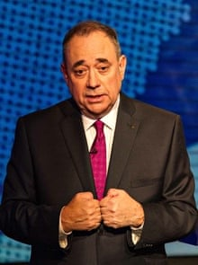 Alex Salmond debating for the yes campaign.