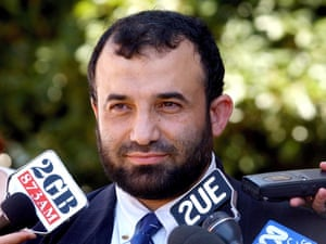 Islamic Friendship Association president Keysar Trad speaking to the media in 2003.