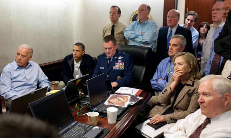 Barack Obama in control room of US operation to capture Osama bin Laden.