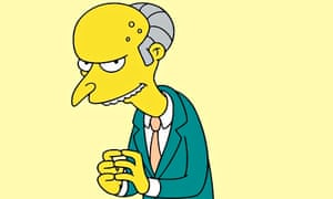 Mr Burns from The Simpsons